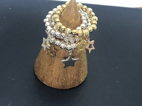 Star charm Stretch Ring - stackable
