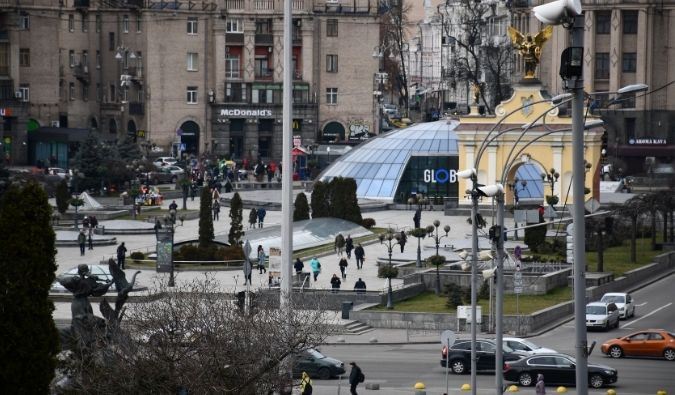 Independence Square (Maidan Nezalezhnosti) in Kyiv