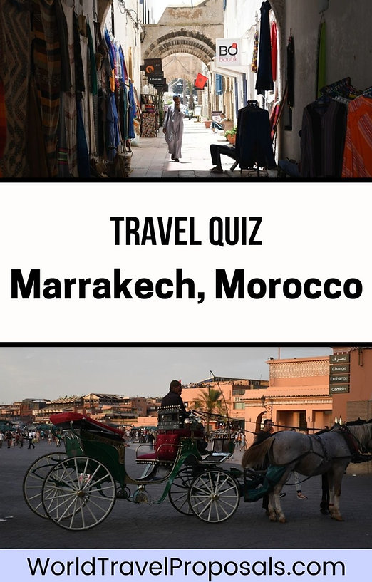 Marrakech travel quiz - Read and answer