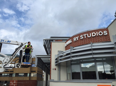 Installation of Built Up Letters