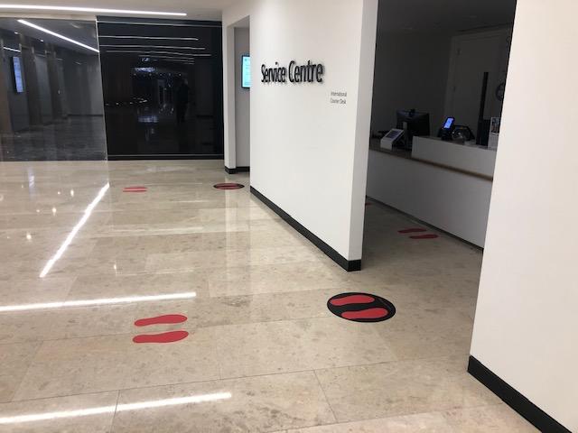 Restaurant Entrance Floor Foot Circles