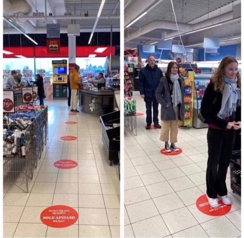 Supermarket floor vinyls