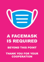 Facemask Required Poster