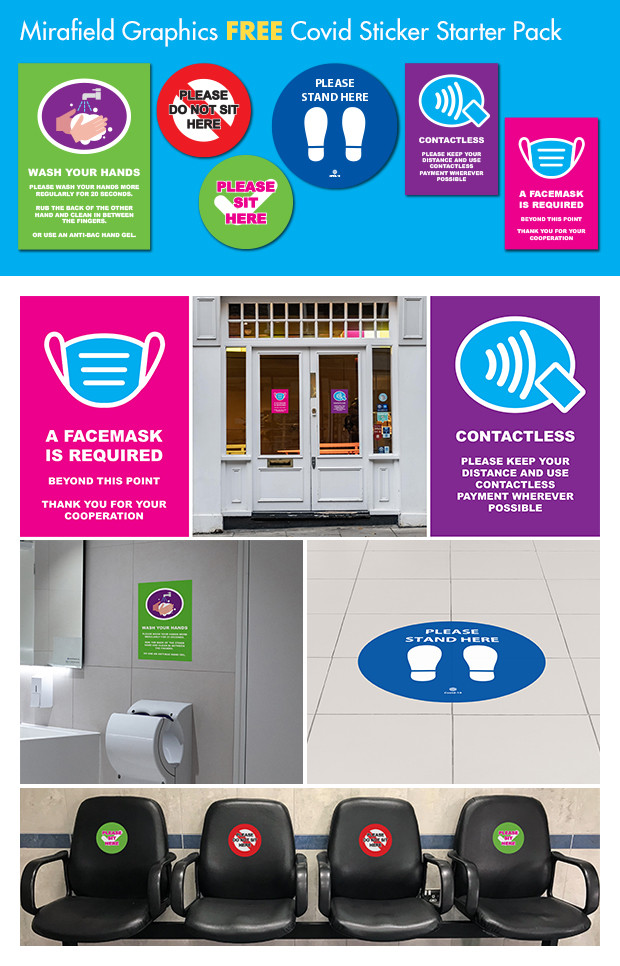 Free Covid Signage Sample Pack