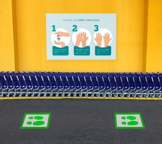 Supermarket Floor Queue