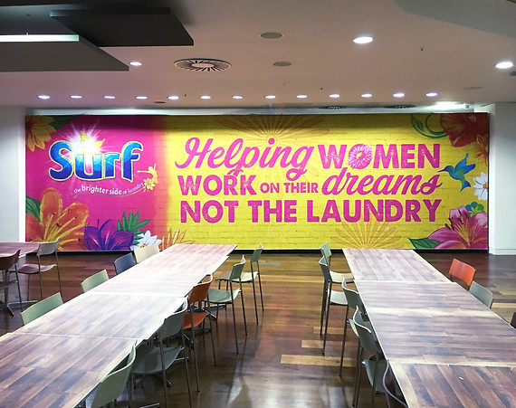 Stretched Fabric Wall Graphic