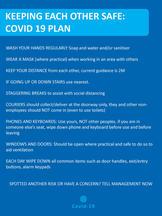 Covid Plan Poster