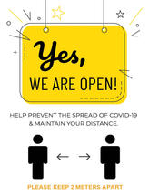 Yes, We Are Open Poster