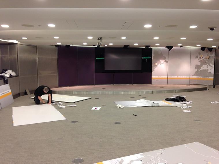 Auditorium Panels Installation