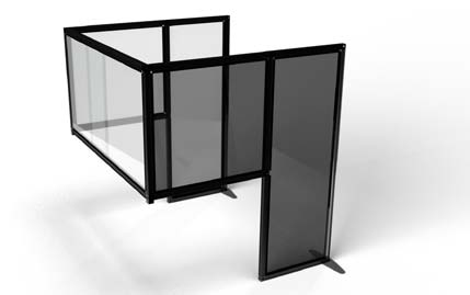 Acrylic Desk Black