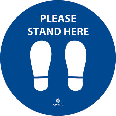 Stand Here 200mm x 200mm