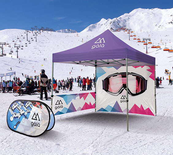 Printed Gazebo and Pop Out
