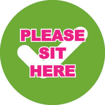 Sit Here 150mm x 150mm