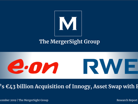 Eon's €43 billion Acquisition of Innogy, Asset Swap with RWE