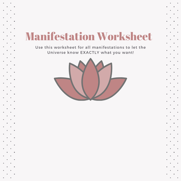 Manifest Worksheet
