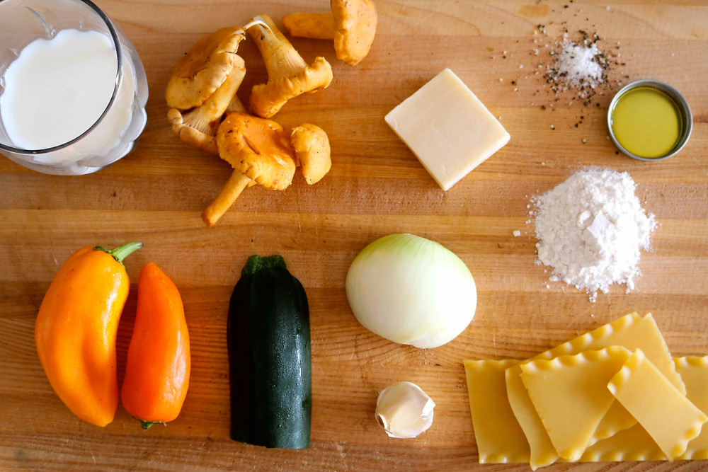 ingredients-lasagne-chanterelle