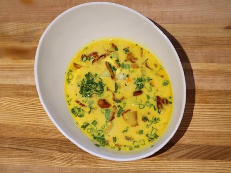 Lobster mushroom Thai soup