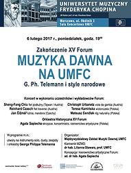 XV Forum Muzyka Dawna na UMFC|Telemann i style narodowe