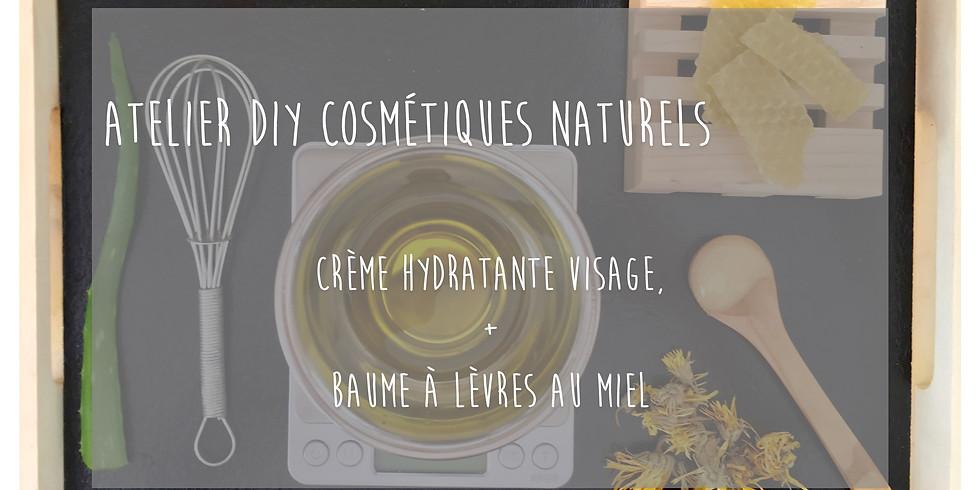 Atelier Crème hydratante & Baume à lèvres