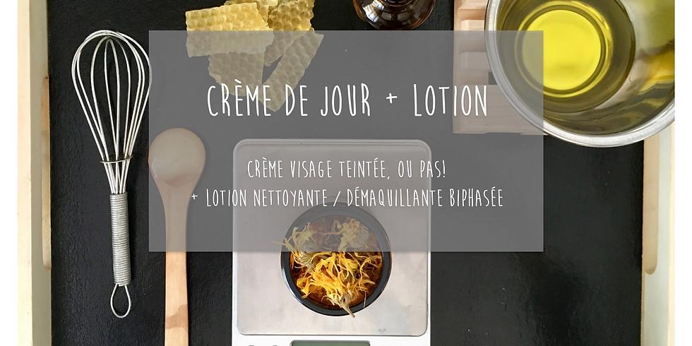 Atelier Crème de jour + Lotion nettoyante / démaquillante