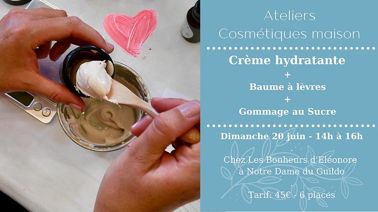 Atelier Crème hydratante, Baume à lèvres & Gommage au sucre