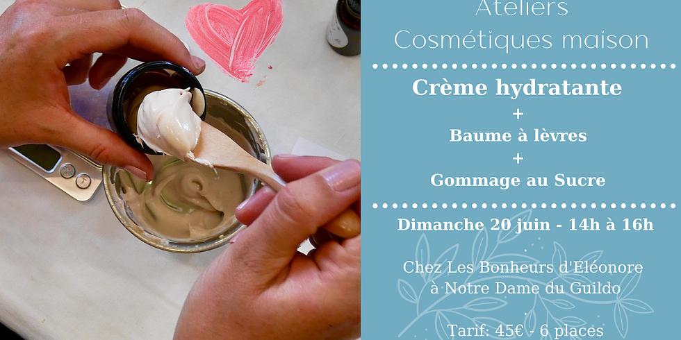 Atelier Crème hydratante, Baume à lèvres & Gommage au sucre  (1)