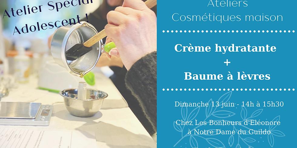 Atelier Spécial Ado - Crème hydratante & Baume à lèvres