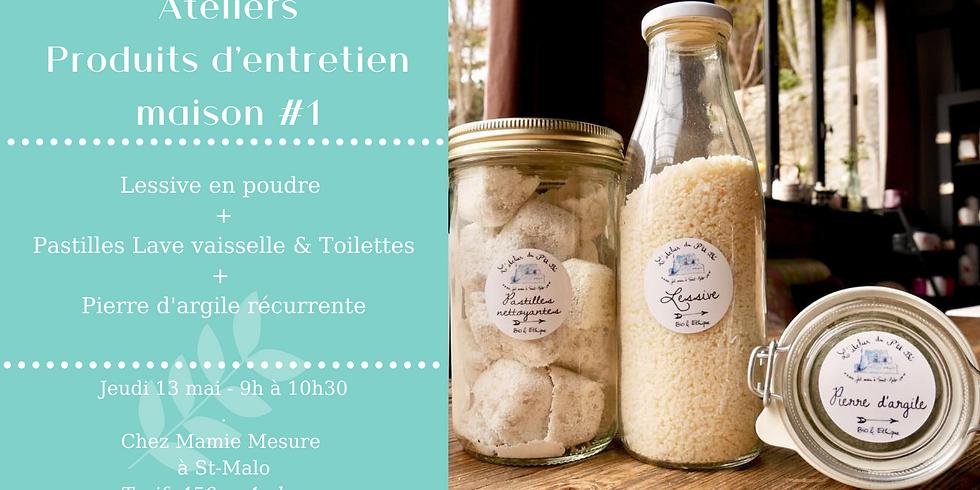 Atelier Produits d'entretien #1 : Lessive + Pierre d'argile + Pastilles Lave vaisselle (1)