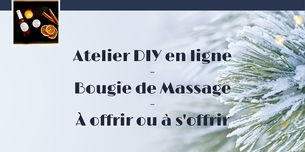 Atelier VISIO - Bougie de massage