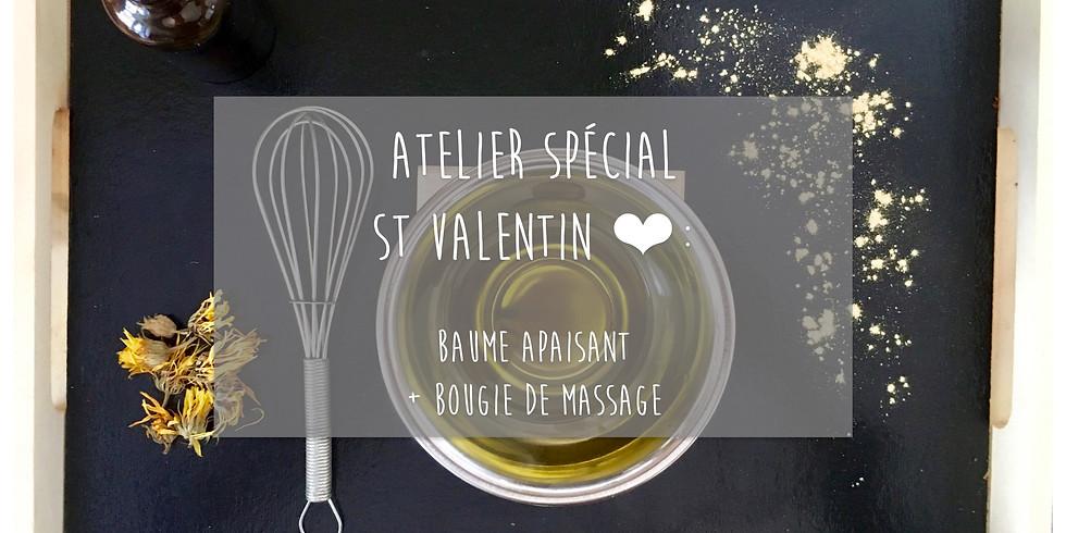 Atelier Spécial St Valentin! Bougie de massage + Baume apaisant