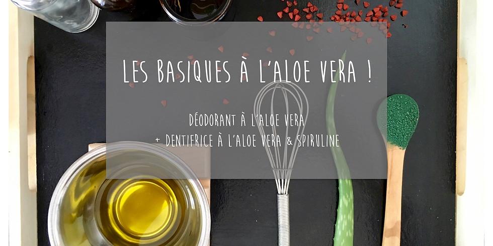 Dimanche matin! Atelier Les Basiques à L'Aloe vera! Déodorant roll-on + Dentifrice (1)