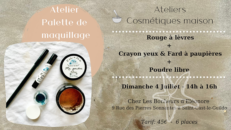 Atelier Palette de Maquillage: Rouge à lèvres + Crayon pour les yeux & Fard à paupières assorti + Poudre libre