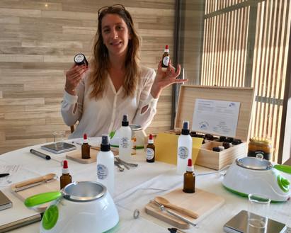 Atelier Cosmétique Bretagne Peggy Cheffe d'atelier Sage Femme Naturopathe