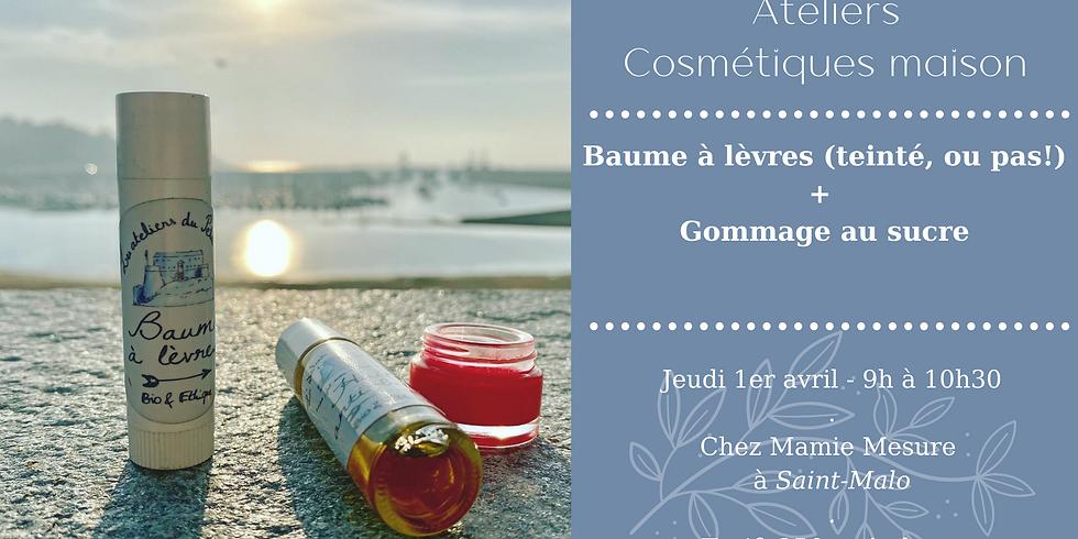 Atelier Baume à lèvres ou Rouge à lèvres + Gommage au sucre (1)