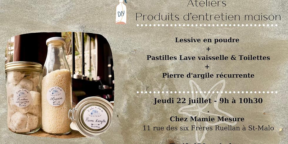 Atelier Produits d'entretien #1 : Lessive + Pierre d'argile + Pastilles Lave vaisselle
