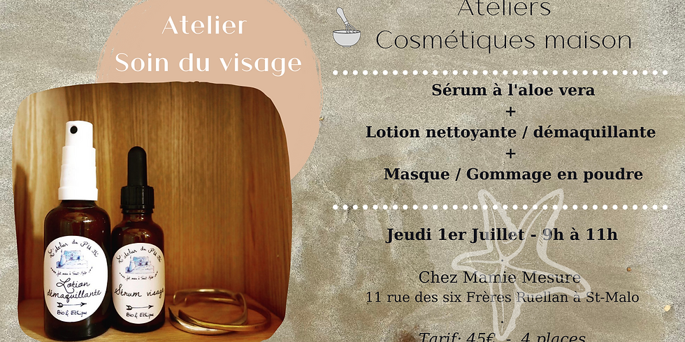 Atelier Soins du visage: Sérum visage + Lotion démaquillante + Masque visage