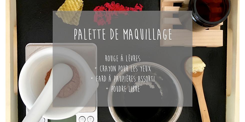 Atelier Maquillage: Rouge à lèvres + Crayon pour les yeux + Fard à paupières + Poudre libre