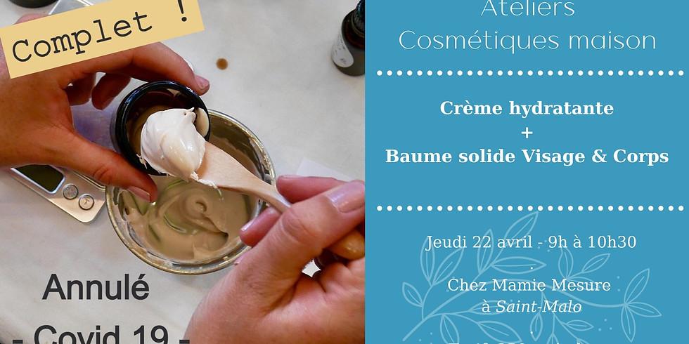 Atelier Crème hydratante + Baume solide Visage & Corps