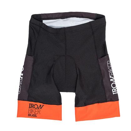 Bermuda Iron Biker Black & Orange