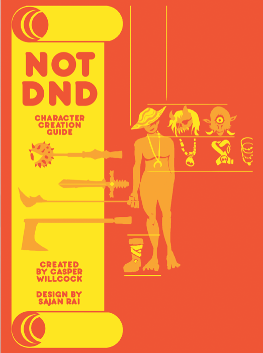Not DND Character Creation Booklet Cover