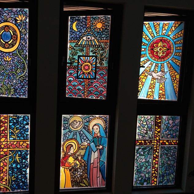 Painted Church Windows