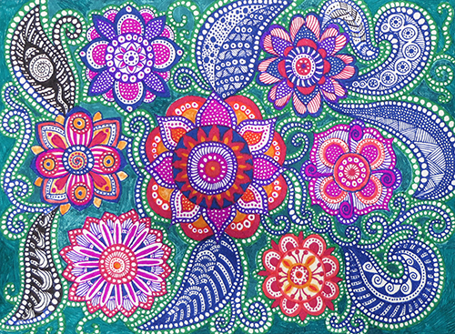 Zentangle Flowers 2016