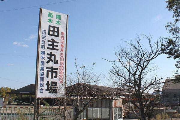 田主丸の植木市場