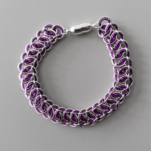 Sterling silver and purple bracelet