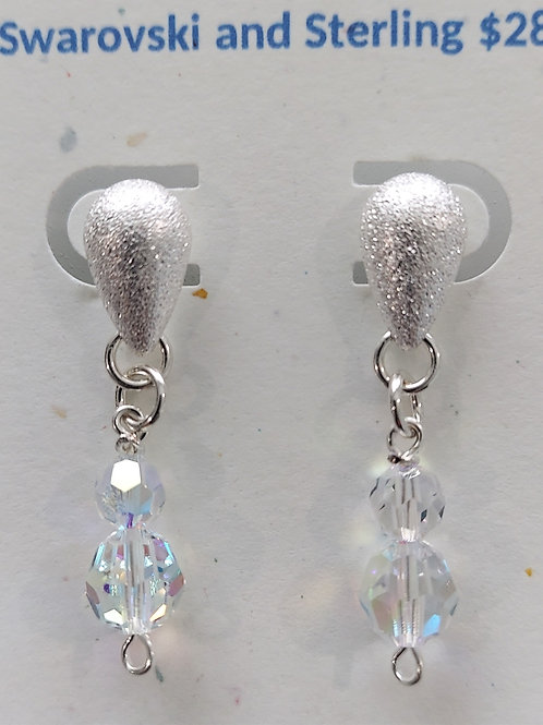 Clear Swarovski crystal posts