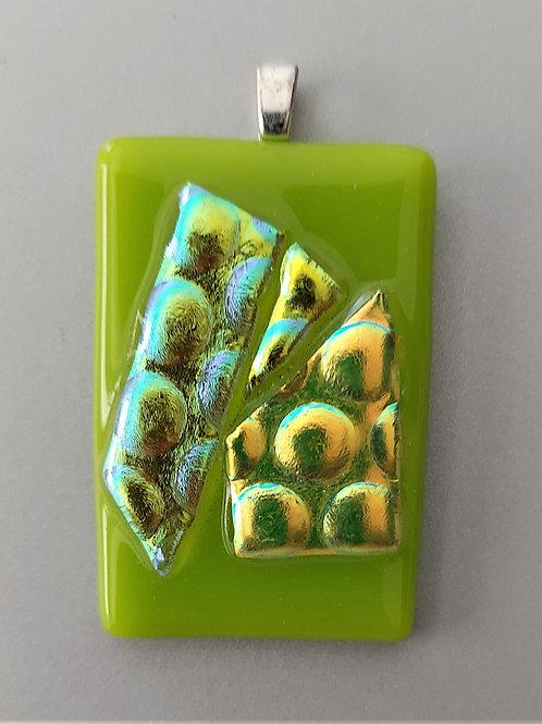 Lime green 3D pendant