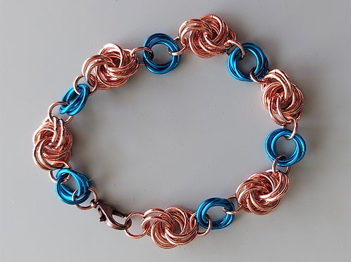 Copper and Turquoise Knot bracelet