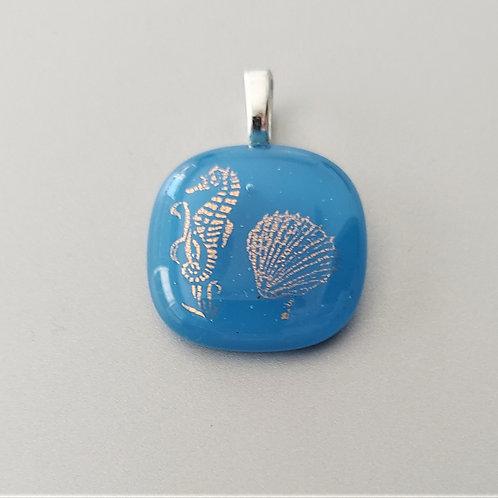 Golden seas pendant