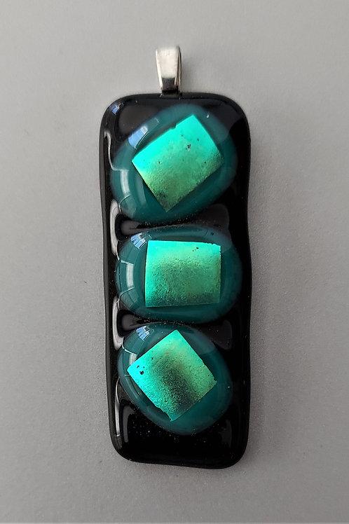 3 dimensional pendant in greens