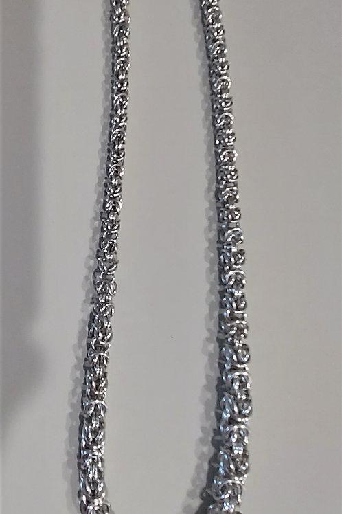 Aluminum graduated Byzantine necklace